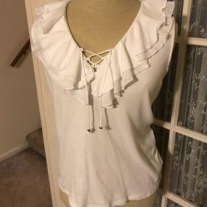 Chaps Ralph Lauren White Sleeveless T-shirt